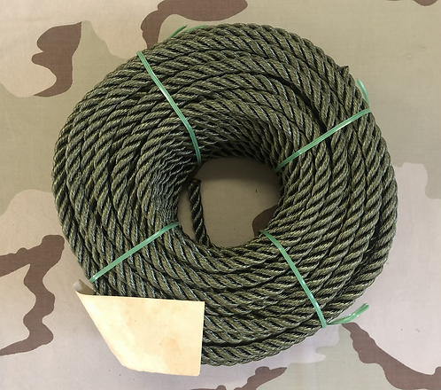 US Military 7/16 in. Green Nylon Rope