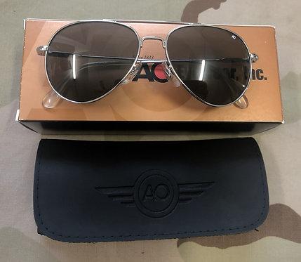 AO Eyewear Original Pilot Sunglasses - Grey Lens & Silver Frame