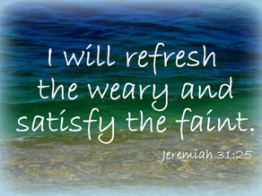 June Prophetic Word: Out of the Valley  And Into The Refreshment