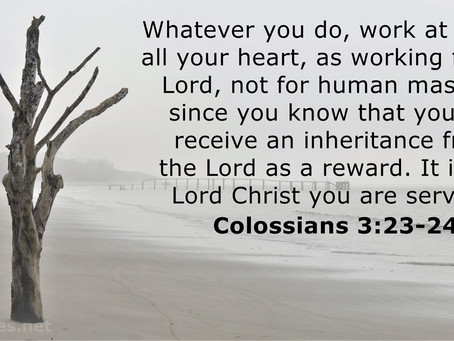Small Things are Passed Away and God's Reward is in Your Life!