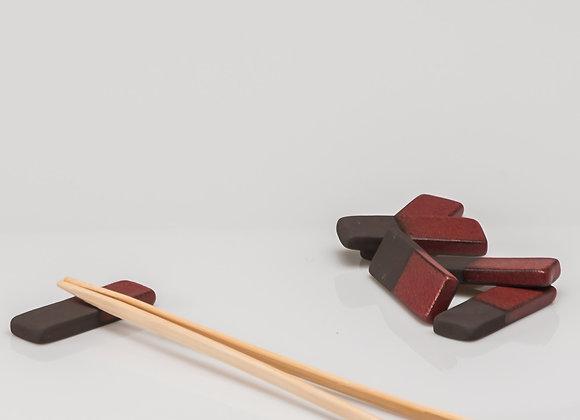 6 repose-baguettes TOKYO rouge