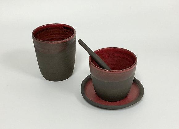 soucoupe pour tasse à café TOKYO rouge