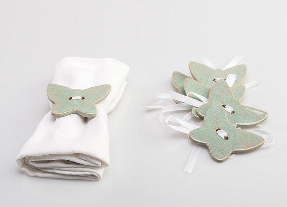 6 ronds de serviette CHLOROPHYLLE