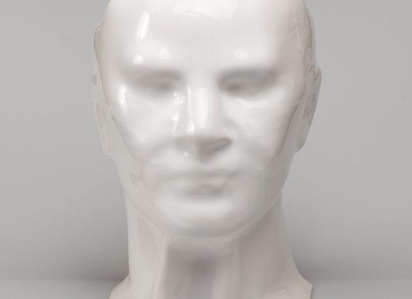 """masque """"REGARDE MOI"""" blanc"""