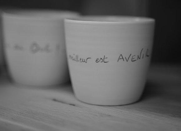 """bol porcelaine """"le meilleur est avenir"""""""