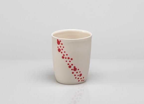 tasse à café BUBBLES rouge