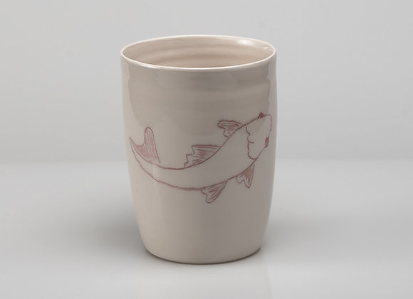 tasse à thé CARPE KOI rouge