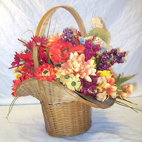 Fall Flowers Basket
