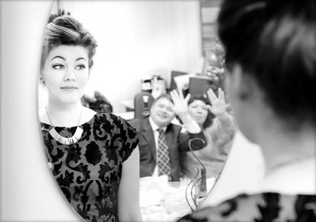 Девушка в зеркале. Портрет
