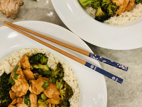 Easy Mongolian Chicken with Roasted Broccoli