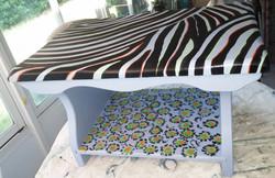 Zebra-Cheetah table