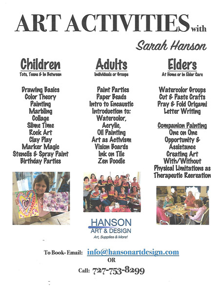 All Ages Art Activities with Sarah Hanson