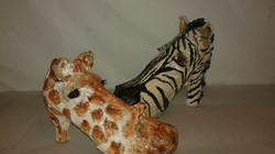Shoe Zoo Giraff & Zebra