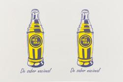Two Inca Kola Bottles
