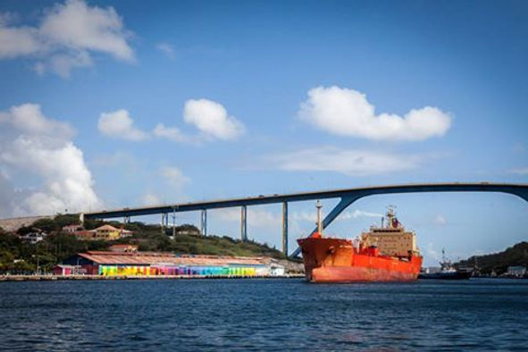 Beatiful Juliana Bridge in Curacao