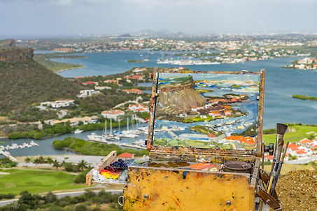 Plein Air painting of Curacao