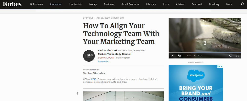 Forbes. Your most effective marketers can talk tech -- and vice versa, says Future Infinitive