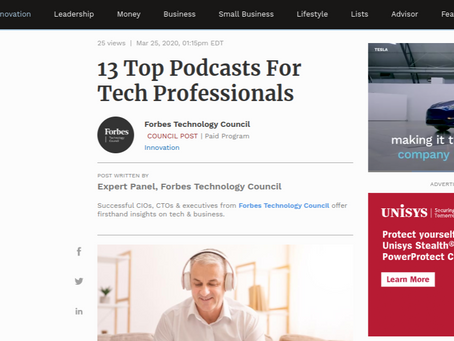"""Forbes. Tech marketing podcast is """"dynamite,"""" says Cira Apps"""