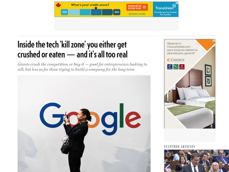 National Post. Niche opportunities abound in Big Tech 'kill zone,' says Unbounce