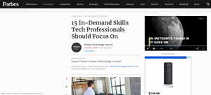 Forbes. Creativity the differentiator for tech job-seekers, says Cira Apps