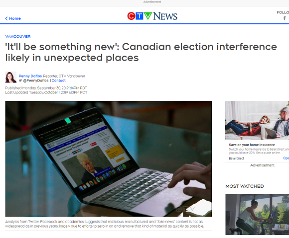 CTV News. PCIS recommends rock-solid tech to defend election integrity