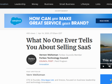 Forbes. Create desire and deliver value for SaaS sales success, says Cira Apps