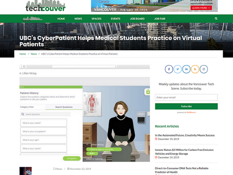 Techcouver. Powerful VR learning platforms can accelerate medical training, says CyberPatient