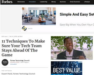 Forbes. CTO's strategic vision should drive tech team training, says PCIS