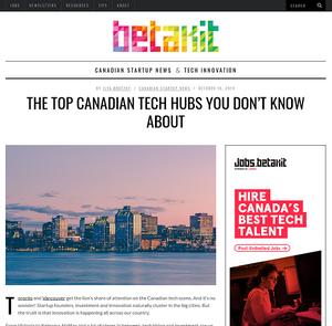 Betakit.com. VanHack surveys the bustling scene at smaller tech centres