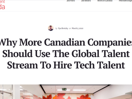 TechTalent. Global Talent Stream is a river of recruiting opportunities, says VanHack