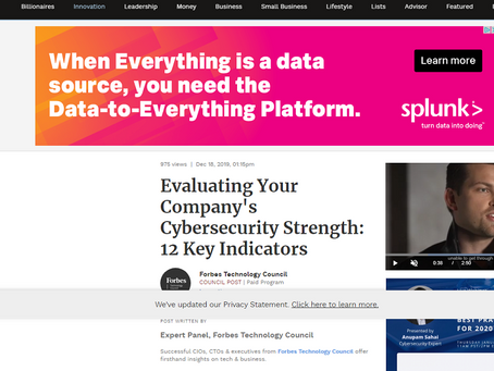 Forbes. There's a simple test for your cyber-security posture, says Cira Apps