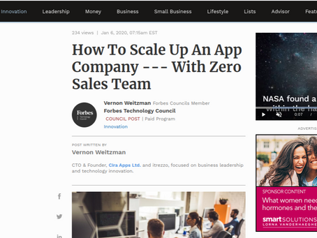 Forbes. Educated SaaS customers provide own support, says Cira Apps
