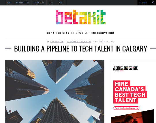 Betakit.com. Triggering a Tech Stampede in Western Canada with VanHack