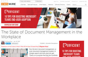 """CMSWire. """"Paper chase"""" of document management needn't end in the cloud, says PCIS"""