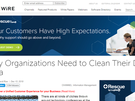 """CMSWire. """"Dirty data"""" need constant cleaning, says PCIS"""