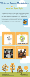 I know Tootsie Roll is going to love the Peace Treaties Vendor!  Can't wait to sample these goods at the Winthrop Avenue Marketplace this Saturday, October 20, 2018!