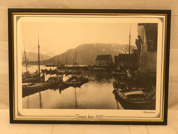 Foto trykk Tromsø havn 1890