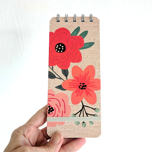 Mini Floral Paper Notebook
