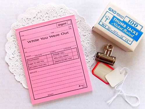 Pink While You Were Out Message Slips