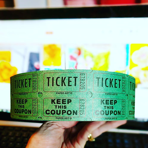 Green Raffle Tickets