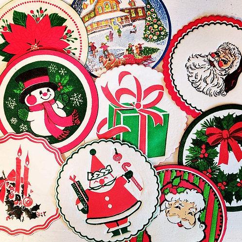 Vintage Christmas Paper Coasters