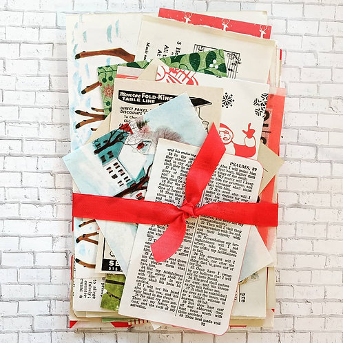 Holiday Large Paper Pack / Vintage & New / 40 Pieces