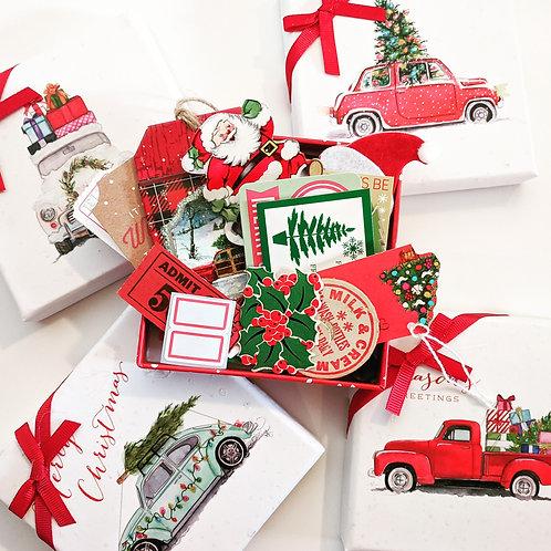 Christmas Ephemera Box / 30 Pieces