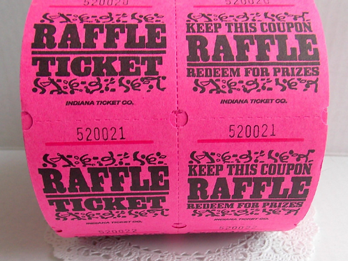 Pink Raffle Tickets