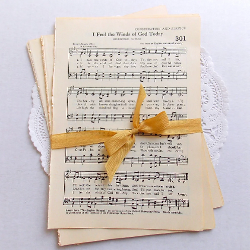 Vintage Hymnal Music Sheet Pages