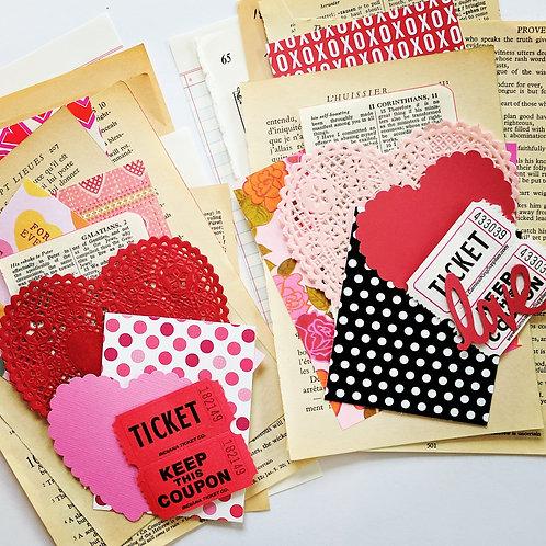 Valentine Mini Ephemera Paper Pack