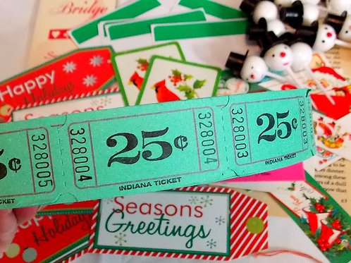 Green 25 Cent Carnival Tickets