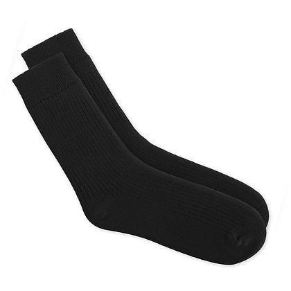 Antibacterial Long Black Socks