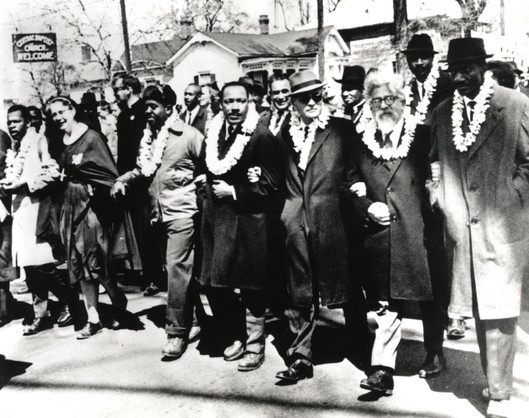 #9 Rabbi Heschel Marching with Dr. Martin Luther King, Jr.