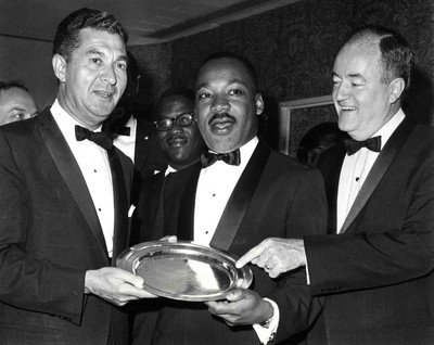 #21 Dr. Martin Luther King, Jr. and Humphrey at AJC Dinner, 1965